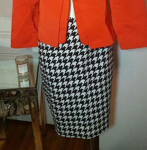 The Limited Skirts - The Limited Houndstooth pencil skirt sz 0